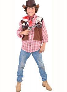 Cowboyhemd met vestje voor kinderen kopen