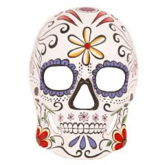 Masker day of the dead met bloemen