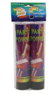2 Party Poppers 20.5Cm