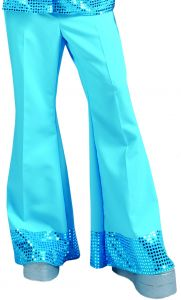 Blauwe Discobroek Voor Heren