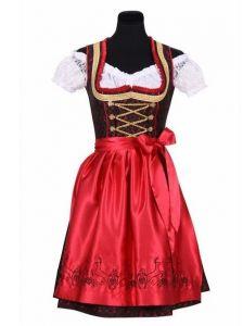 Dirndl Luxe Franziska Rood-zwart