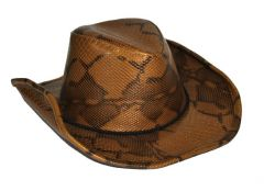 Hoed Cowboy Slangenvel