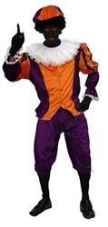 Kostuum Zwarte Piet Oranje - Paars