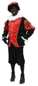 Kostuum Zwarte Piet Zwart- Rood Huren