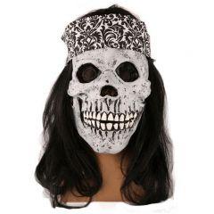 Maske Skull Met Haarband