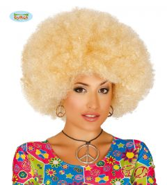 Pruik Afro Blond