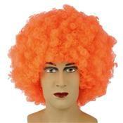 Pruik Krullenbol Extra Oranje