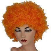 Pruik Krullenbol Oranje