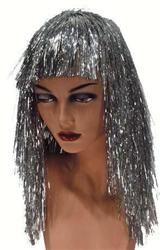 Pruik Lametta Luxe Zilver