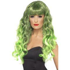 Pruik Sirene Groen
