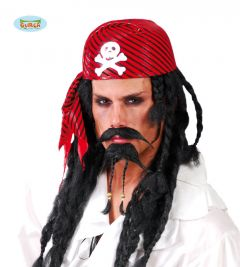 Rode Piratenbandana