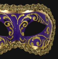 Venetiaans Masker Colombina Decor Era Gold Purple