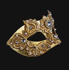 Venetiaans Masker Colombina Macramè Gold