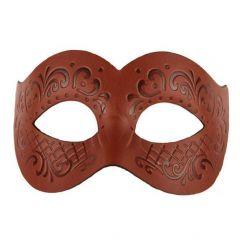 Venetiaans Masker Leder Bruin