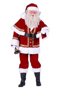 Kostuum Kerstman fluweel deluxe kopen